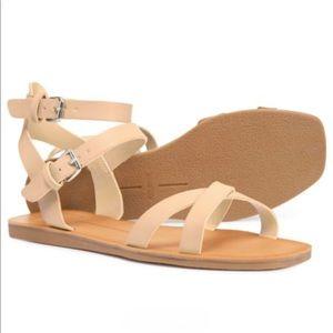 Dolce Vita Camara Flat Strap Square Toe Sandals